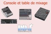 Table et console de mixage